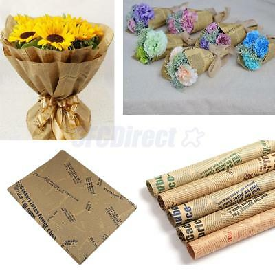 Lot of 50pcs Newspaper Gift Wrapping Paper Flower Bouquet Craft DIY 70 x 50cm