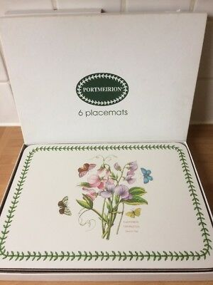 Portmeirion botanic garden placemats / table mats Boxed Set Of Six