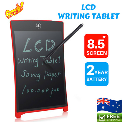 "8.5"" Digital LCD Writing Pad Kids Graphics Drawing Notepad Board w/ Pen Lot R"