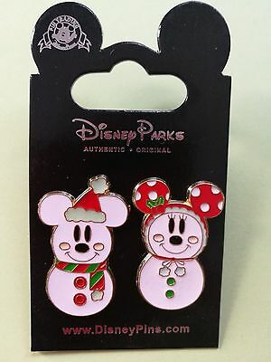 Disney Trading pins Mickey Mouse / Minnie Mouse snowmen