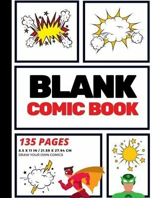 Blank Comic Book: Create Your Own Comic St by Arnie Lightning New Paperback Book