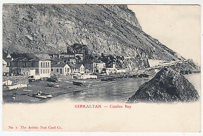 GIBRALTAR - Catalan Bay - Artistic Postcard Co #1 - c1900s era