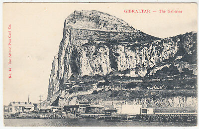 GIBRALTAR - The Rock From S Felipe - Artistic Postcard Co #4 - c1900s era