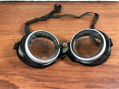 Vintage Antique Wilson Safety Glasses Goggles Steampunk