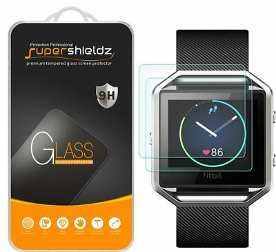 Fitbit Blaze Tempered Glass Screen Protector Ultra Clear Film 2 Pack Smart Watch