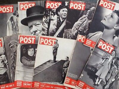 Picture Post Magazines - 10 Issues Various Dates From 1939 To 1948