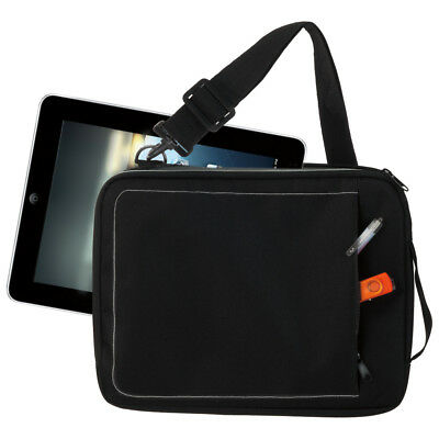 iPad Black Pink Case with Shoulder Strap - Bag / Pouch / Sleeve for Tablet