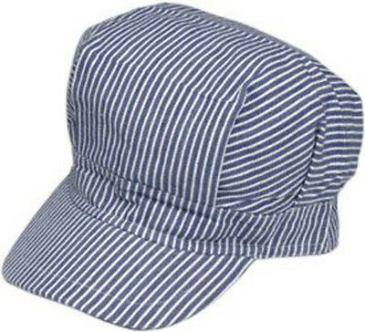 New Train Engineer Cap Railroad Hat Adult Size Adjustable Cotton Men Women