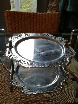1950s Chromed Cake and Sandwich Stand