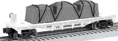 Lionel 6-39395 US National Guard Flat Car Made In USA O Gauge Model Trains