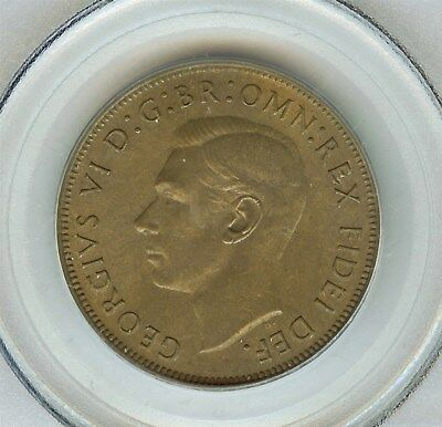 Great Britain 1951 Penny  Pcgs Ms65 Brown
