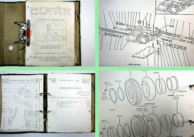 Clark Clarklift CY 350B - 500B Parts Book with Perkins Engine