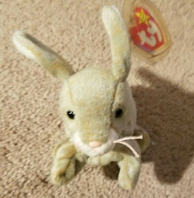Ty Beanie Baby Nibbly the Bunny May 7 1998 EUC Free Shipping  662