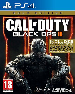 Call of Duty Black Ops 3 III - Gold Edition [Sony PlayStation 4 PS4 Bonus COD]