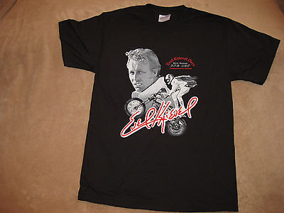 """Evel Knievel Commemorative """"Concert style"""" T-Shirt! FINAL STOCK SALE $11 each!!"""
