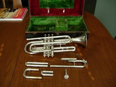 Lyon and Healy  B Flat, A, and C Cornet Silver-Rare Model