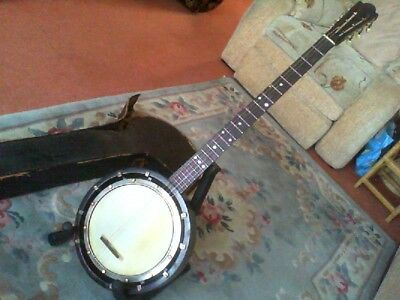 Rare Vintage British Made 4/6 String Banjo Wood Resonator Board.skinner London