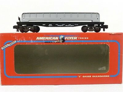 American Flyer Lionel New Haven Flat Car With Girder Load 6-48515 S Gauge Trains