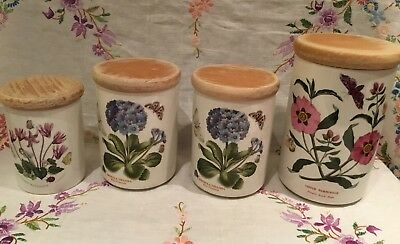 *job Lot Of 4 Portmeirion Botanic Garden Storage Jars*