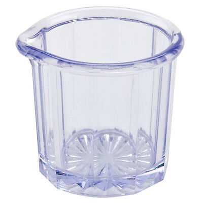 SIX (6)  Clear Plastic SAN 2 Oz. Creamer / Syrup Pitcher FREE SHIPPING