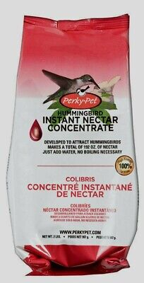 New Perky-Pet Hummingbird Red Nectar Food Concentrate Sucrose 2 lb. Makes 192 oz