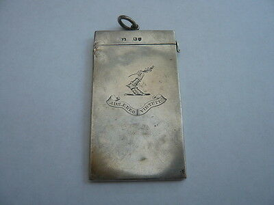 Antique Vintage Sterling Silver Card Case Sampson Mordan Hm 1883 Research Crest