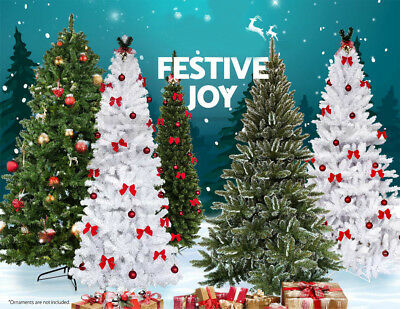 5678 ft artificial pvc christmas tree wstand holiday