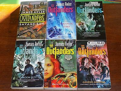 Lot of 6 Outlanders books by James Axler - paperback