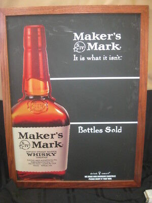 Framed Makers Mark Advertising Sign