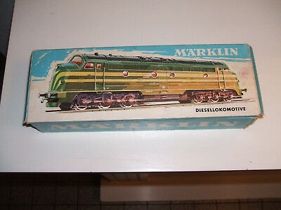 boite train locomotive diesel marklin vide