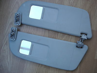Vauxhall Corsa C Pair Of Sun Visors With Mirrors   2000 To 2006 Models