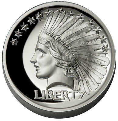 2017 $20 Double Eagle Indian Head Pattern HR 1 oz Silver Proof Medal SKU51799