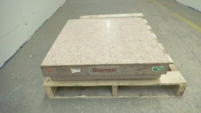 Starrett Grade A pink granite surface plate 24 x 24 x 6, with ledges, cover used