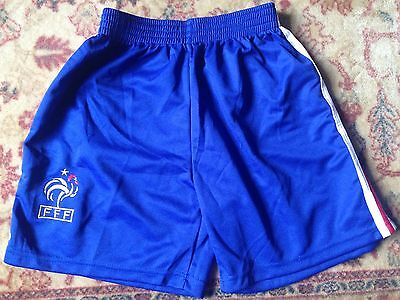 Old Style Pair of Boys, French National Football Shorts, Size L.