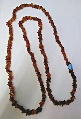 Natural Amber tumble chips Necklace