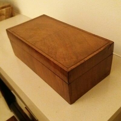Art deco 1930s walnut box