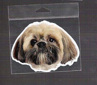 Lhasa Apso  4 inch face magnet for anything metal