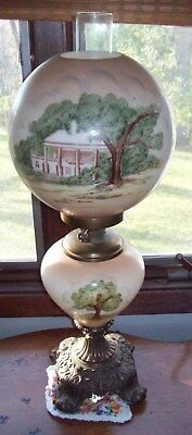 Gone with the Wind Lamp features Morton Mansion design - aprox 1970s