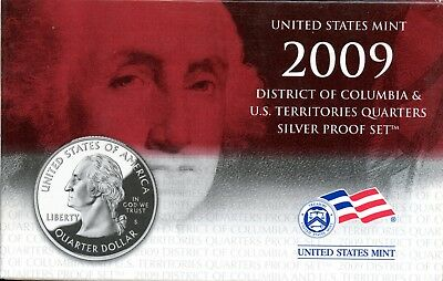 Gorgeous 2009 D.C. and U.S. Territories Quarters Silver Proof Set BF 277