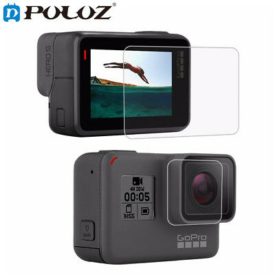 PULUZ LCD Surface Tempered Glass Film+Lens HD Screen Protector For GoPro HERO5
