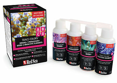 Red Sea Coral Colors Starter Kit A,B,C&D (4x100ml)