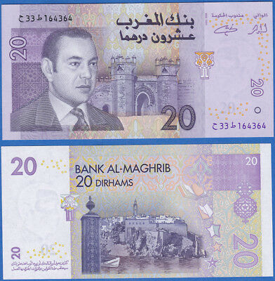 Morocco, 20 Dirhams, 2002 P-68  UNC US-Seller