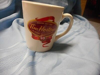 New Tim Hortons Horton's 40 Years Thank You For Limited Edition Coffee Cup Mug