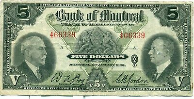 The Bank of Montreal $5 A466339 F/VF