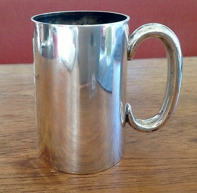 Sheffield 1925 Sterling Silver Tankard With A Canadian WW2 Military Connection