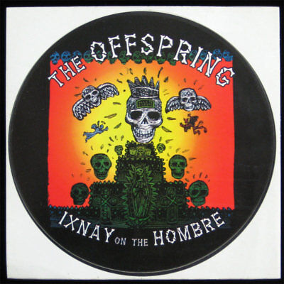 Offspring Ixnay on the Hombre RARE 1997 Promo Sticker Columbia LP Art pUnK Skate