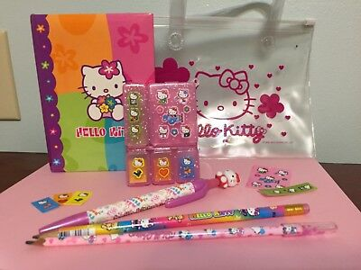 Hello Kitty Journal set with stickers, bag, pencils...