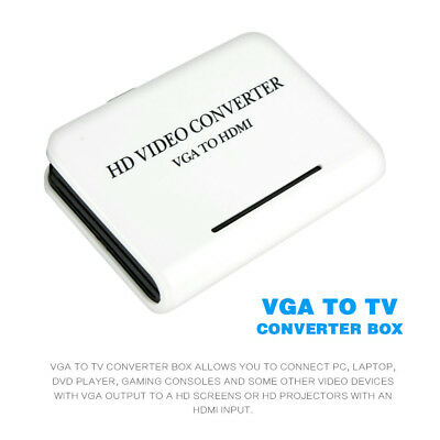 1080P Audio VGA to HDMI HD HDTV Video Converter Box Adapter for PC Laptop PS3