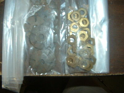 Western Electric Telephone LOT finger wheel (25) Dial Nuts & (25) Spider Washers