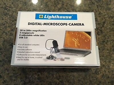LIghthouse USB 2MP DIgital MIcroscope With Optional Stand